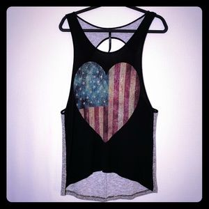 The Classic -Twisted Racerback Flowy Tank Top L